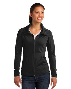 Sport Tek LST852 Ladies Sport Wick Stretch Full Zip Jacket