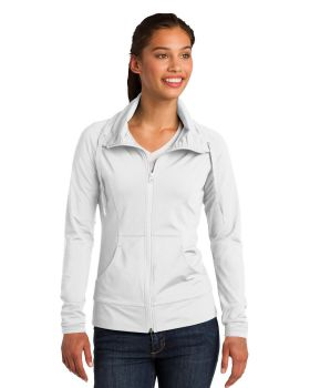 Sport Tek LST852 Ladies Sport Wick Stretch Full Zip Jacket