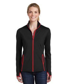 'Sport Tek LST853 Ladies Sport Wick Stretch Contrast Full Zip Jacket'