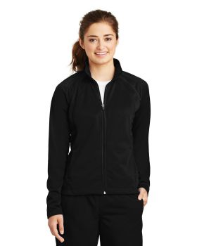 Sport Tek LST90 Ladies Tricot Track Jacket