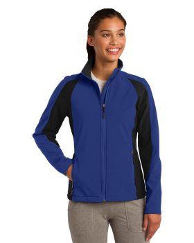 Sport Tek LST970 Ladies Colorblock Soft Shell Jacket