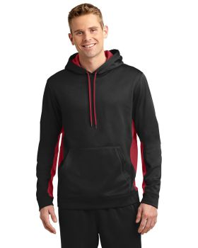 Sport Tek ST235 Sport-Wick Fleece Colorblock Hooded Pullover