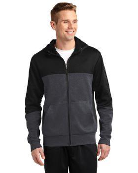 Sport Tek ST245 Tech Fleece Colorblock Full-Zip Hooded Jacket ST245