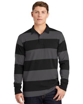 Sport Tek ST301 Classic Long Sleeve Rugby Polo Shirt