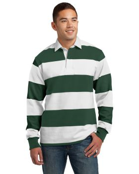Sport Tek ST301 Classic Long Sleeve Rugby Polo Shirt