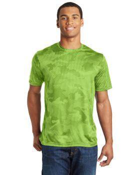 'Sport Tek ST370 Camohex Interlock T-Shirt '