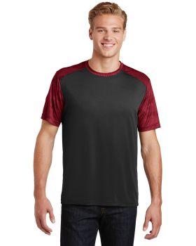 Sport Tek ST371 Camohex Colorblock T-Shirt