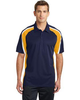 Sport Tek ST654 Tricolor Micropique Sport Wick Polo Shirt