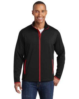 Sport Tek ST853 Sport-Wick Stretch Contrast Full Zip Jacket