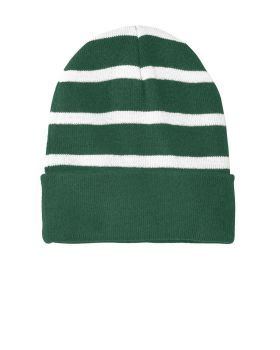 Sport Tek STC31 Striped Beanie With Solid Band