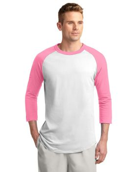 Sport Tek T200 Cotton Colorblock Raglan Jersey