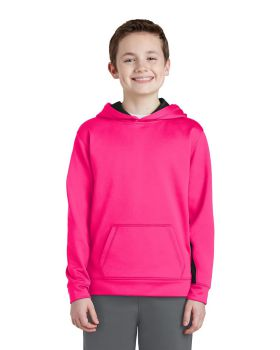 Sport Tek YST235 Youth Sport-Wick Fleece Colorblock Hooded Pullover