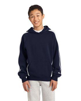Sport Tek YST265 Youth Sleeve Stripe Pullover Hooded Sweatshirt