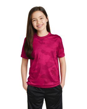 Sport Tek YST370 Youth Camohex T-Shirt