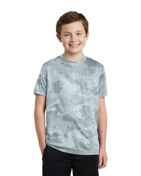 Sport Tek YST370 Youth Camohex T-Shirt