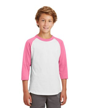 Sport Tek YT200 Youth Colorblock Raglan Jersey