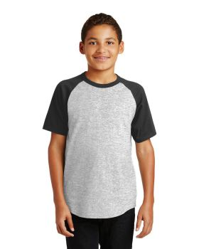 Sport Tek YT201 Youth Short Sleeve Colorblock Raglan Jersey
