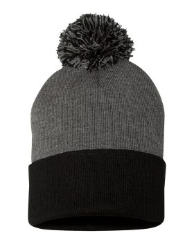 Sportsman SP15 Pom Pom 12 Knit Beanie