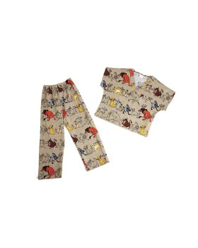 Tooniforms Baby Boys Kids Top and Pant Scrub Set/_Buttons and Bows/_M,6620C
