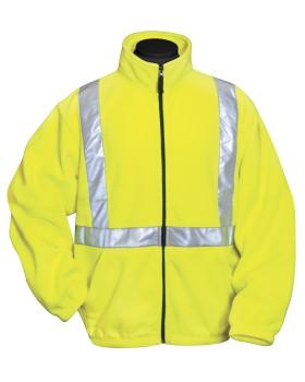 Tri-Mountain 7130 100% polyester anti-pilling safety fleece jacket. ANSI ...