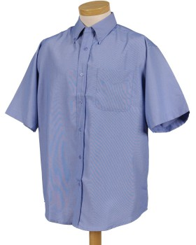 Tri-Mountain 858 Men's rayon/poly short sleeve shirt with mini-houndstoo ...