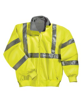 Tri-Mountain 8830 Poly ANSI Compliant Safety Jacket with reflective tape ...