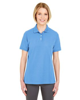UltraClub 7510L Ladies' Platinum Honeycomb Piqué Polo