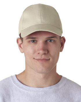 'UltraClub 8110 Adult Classic Cut Brushed Cotton Twill Structured Cap'