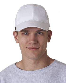 UltraClub 8110 Adult Classic Cut Brushed Cotton Twill Structured Cap