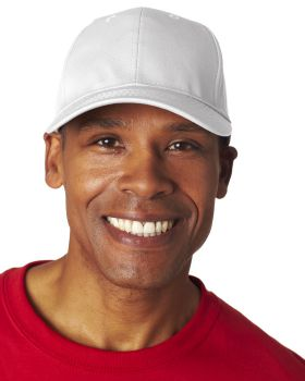 UltraClub 8121 Adult Classic Cut Cotton Twill 6-Panel Cap