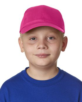 UltraClub 8122 Youth Classic Cut Cotton Twill 6-Panel Cap