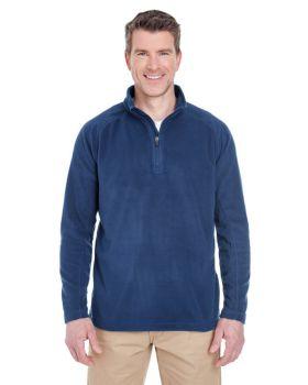 UltraClub 8180 Adult Cool Dry Quarter Zip Microfleece SweatShirt