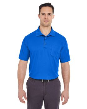 UltraClub 8210P Adult Cool & Dry Mesh Piqué Polo with Pocket