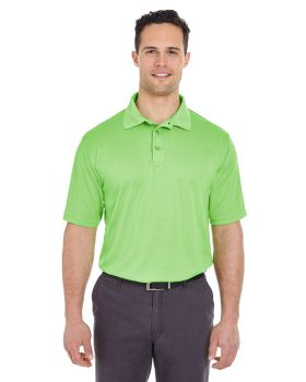 UltraClub 8220 Men's Cool & Dry Jacquard Stripe Polo