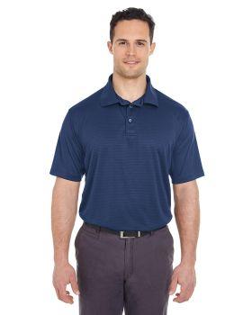'UltraClub 8220 Men's Cool & Dry Jacquard Stripe Polo'