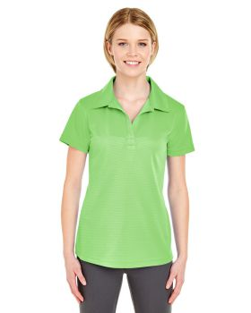 UltraClub 8220L Ladies' Cool & Dry Jacquard Stripe Polo