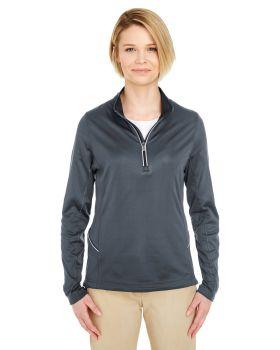 UltraClub 8230L Ladies' Cool & Dry Sport Quarter-Zip Pullover