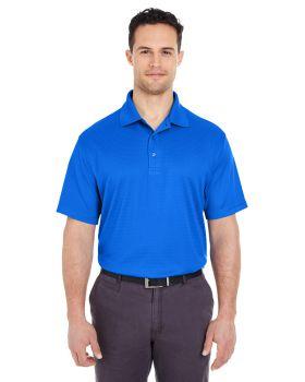 'UltraClub 8305L Ladies' Cool & Dry Elite Mini-Check Jacquard Polo'