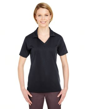 UltraClub 8320L Ladies' Platinum Performance Jacquard Polo with TempCont ...