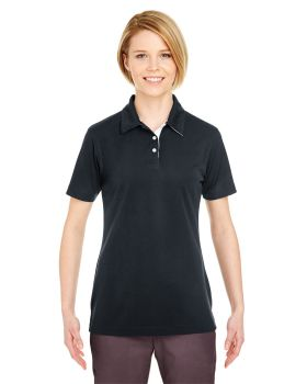 UltraClub 8325L Ladies' Platinum Performance Birdseye Polo with TempCont ...