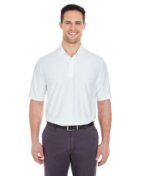 UltraClub 8413 Men's Cool & Dry Elite Tonal Stripe Performance Polo Shir ...