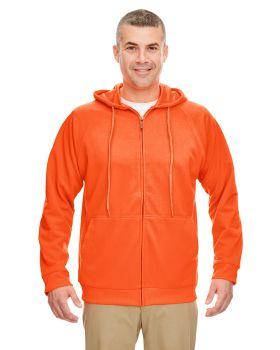 UltraClub 8463 Adult Rugged Wear Thermal-Lined Full-Zip HoodedFleece