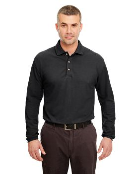 UltraClub 8532 Adult Long Sleeve Classic Pique Polo Shirt