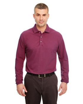 UltraClub 8532 Adult Long Sleeve Classic Pique Polo Shirt