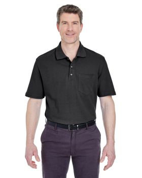 UltraClub 8534 Adult Classic Piqué Polo withPocket