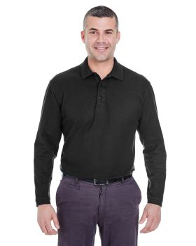 UltraClub 8542 Adult Long-Sleeve Whisper Piqué Polo