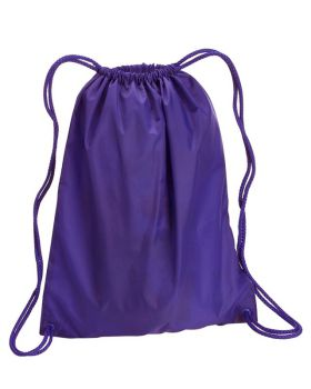 UltraClub 8882 Large Drawstring Nylon Backpack