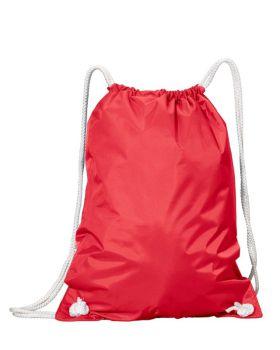 UltraClub 8887 White Drawstring Backpack