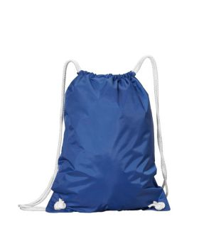 UltraClub 8887 White Drawstring Backpack