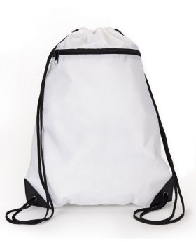 UltraClub 8888 Zipper Drawstring Backpack